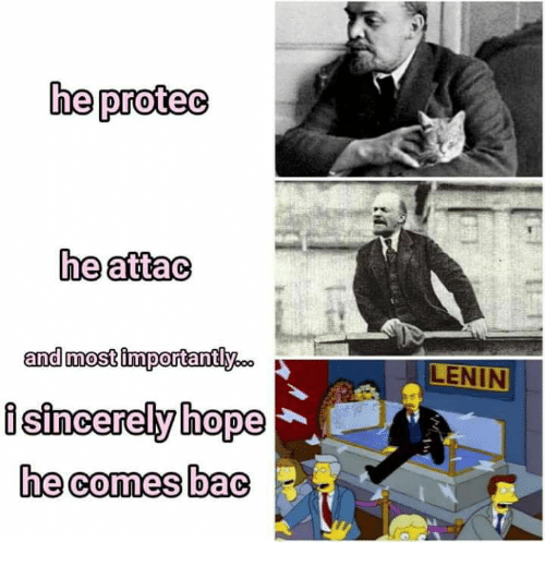 Hope, Lenin, and Bac: he proteo  he attao  and most importantly0  isincerely hope  he comes bac  LENIN