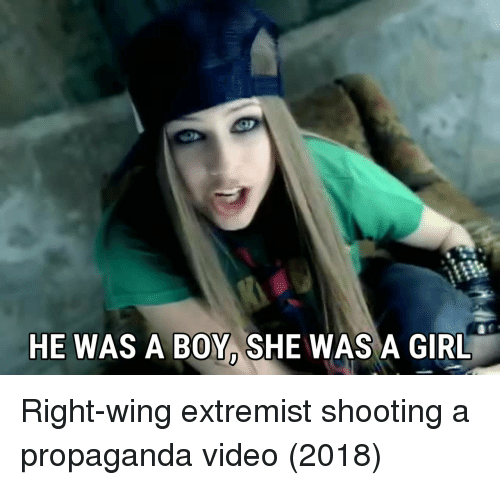 right wing: HE WAS A BOY, SHE WAS A GIRL Right-wing extremist shooting a propaganda video (2018)