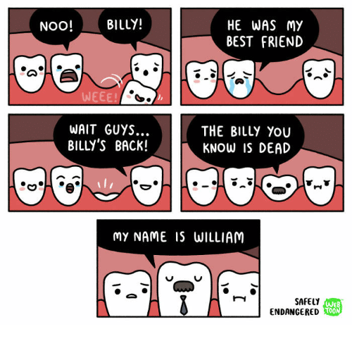 Best Friend, Best, and Back: HE WAS My  BEST FRIEND  NOO!BILLY!  WEEE!  WAIT GUYS...  BILLY'S BACk!  THE BILLY You  KNOW IS DEAD  MY NAME IS WILLIAM  SAFELY  ENDANGERED  WEB  TOON