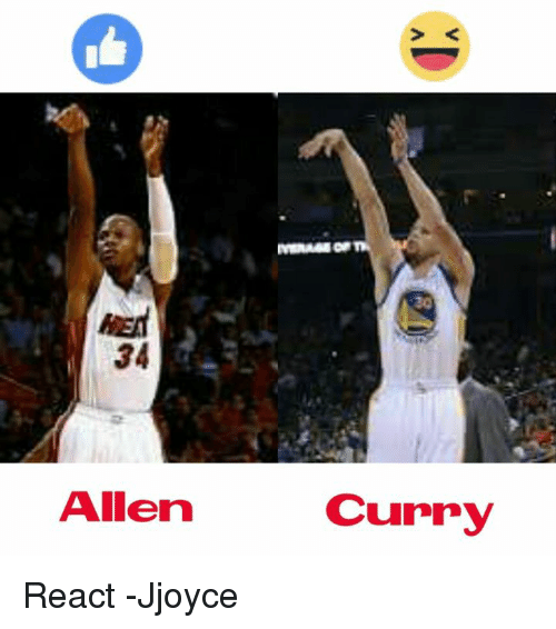 Memes, 🤖, and Curry: HEA  34  Allen  Curry React  -Jjoyce