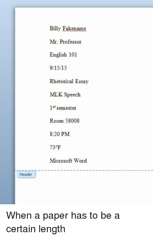 microsoft word how to make headers for essays