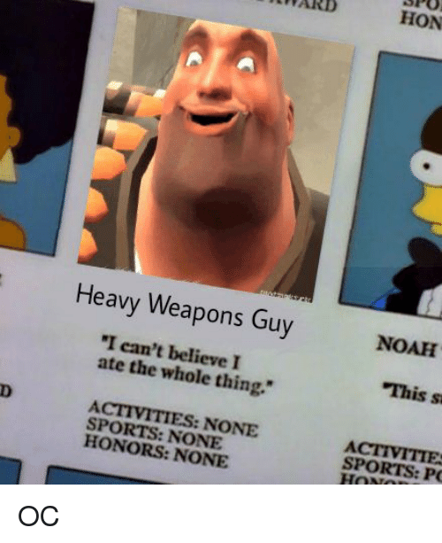 Heavy weapons guy i cant believe i ate the thing sports none none memes sports and noah heavy weapons guy i cant believe freerunsca Gallery