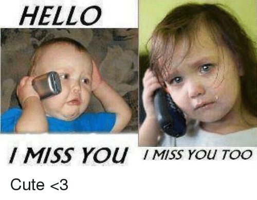 hello miss you miss you too cute %3C3 4538870 hello miss you miss you too cute \u003c3 cute meme on sizzle