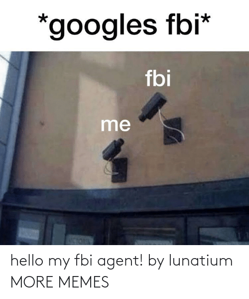 agent: hello my fbi agent! by lunatium MORE MEMES