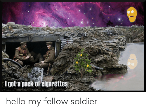 soldier: hello my fellow soldier