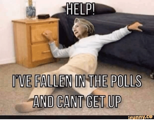 Help Ive Fallen: HELP!  IVE FALLEN IN THE POLLS  AND CAN GET UP  Runny co