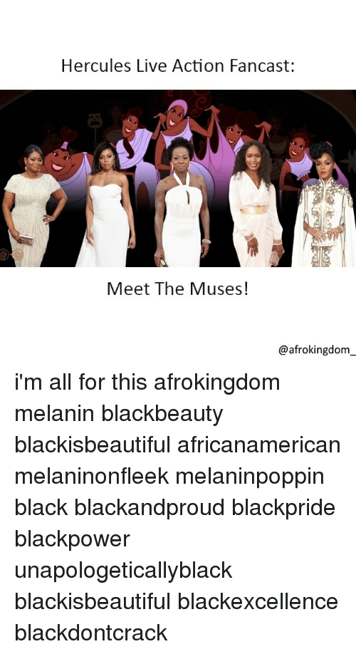 the muses: Hercules Live Action Fancast:  Meet The Muses!  @afrokingdom i'm all for this afrokingdom melanin blackbeauty blackisbeautiful africanamerican melaninonfleek melaninpoppin black blackandproud blackpride blackpower unapologeticallyblack blackisbeautiful blackexcellence blackdontcrack
