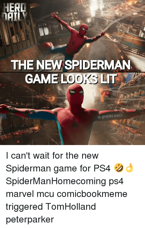herding: HERD  THE NEW SPIDERMAN  GAME LOOKS LIT  IG @HERO.DAILY I can't wait for the new Spiderman game for PS4 🤣👌 SpiderManHomecoming ps4 marvel mcu comicbookmeme triggered TomHolland peterparker