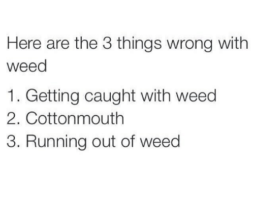 a description of what wrong with weeds