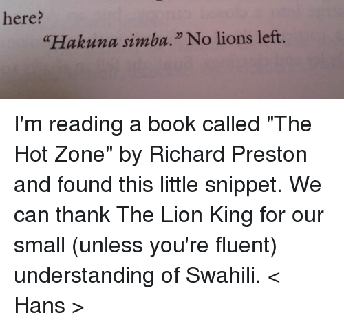 a book analysis of the hot zone by richard preston