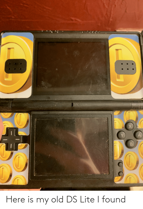ds lite: Here is my old DS Lite I found