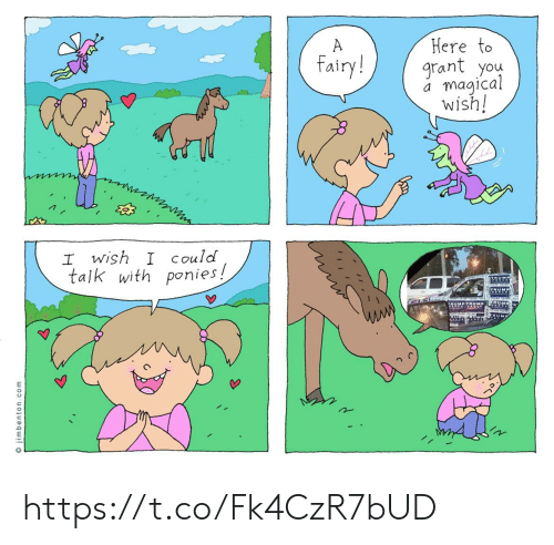 Grant: Here to  grant you  magical  wish!  A  fairy!  I wish I Could  talk with ponies!  TRM  TRUMP TRUMP  RUM  O jimbenton.com https://t.co/Fk4CzR7bUD