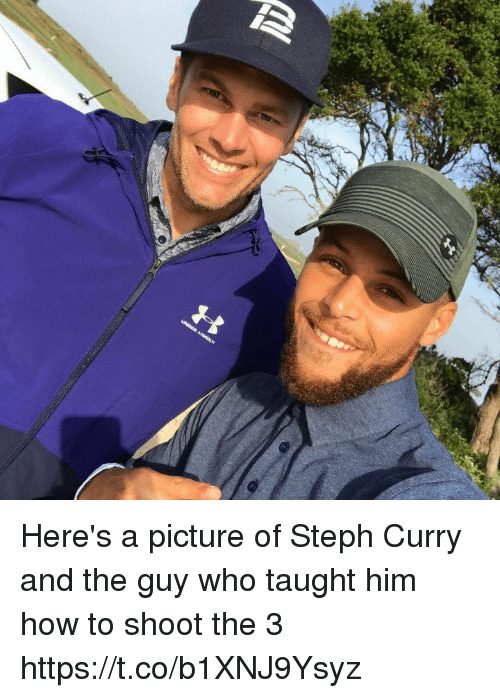 Memes, How To, and Steph Curry: Here's a picture of Steph Curry and the guy who taught him how to shoot the 3 https://t.co/b1XNJ9Ysyz