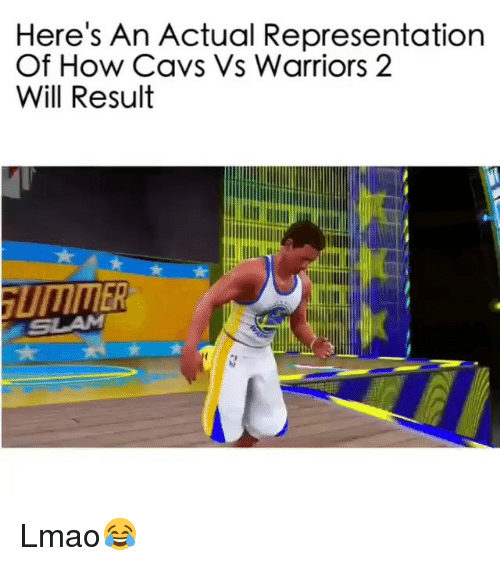 cavs vs: Here's An Actual Representation  Of How Cavs Vs Warriors 2  Will Result Lmao😂