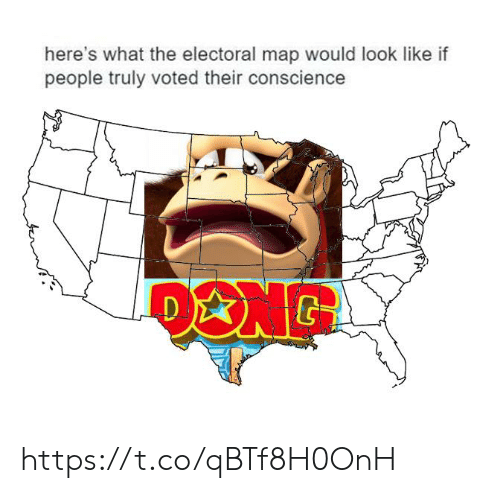 Conscience: here's what the electoral map would look like if  people truly voted their conscience https://t.co/qBTf8H0OnH