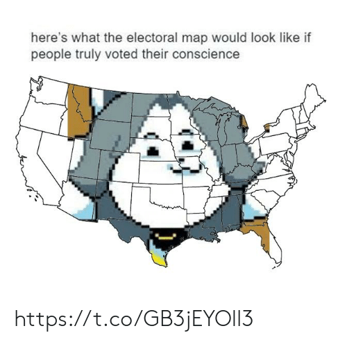 Conscience: here's what the electoral map would look like if  people truly voted their conscience https://t.co/GB3jEYOll3
