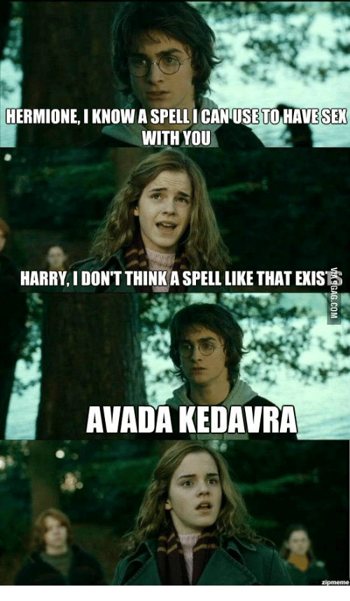 Right! Harry and hermione have sex