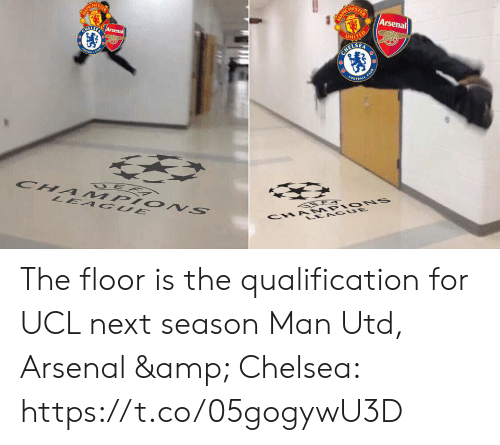 The Floor Is: HES  Arsenal  ELSE The floor is the qualification for UCL next season  Man Utd, Arsenal & Chelsea: https://t.co/05gogywU3D