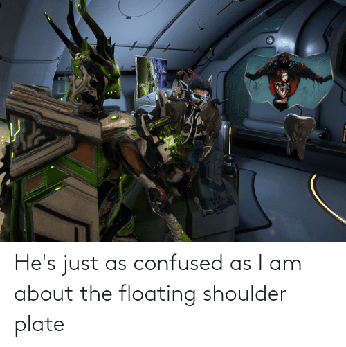 floating: He's just as confused as I am about the floating shoulder plate