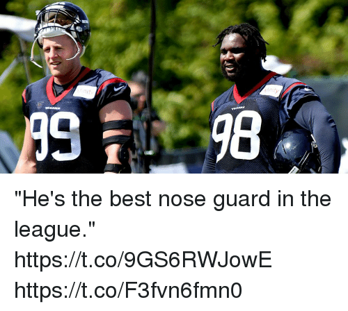 "Memes, Best, and The League: ""He's the best nose guard in the league."" https://t.co/9GS6RWJowE https://t.co/F3fvn6fmn0"