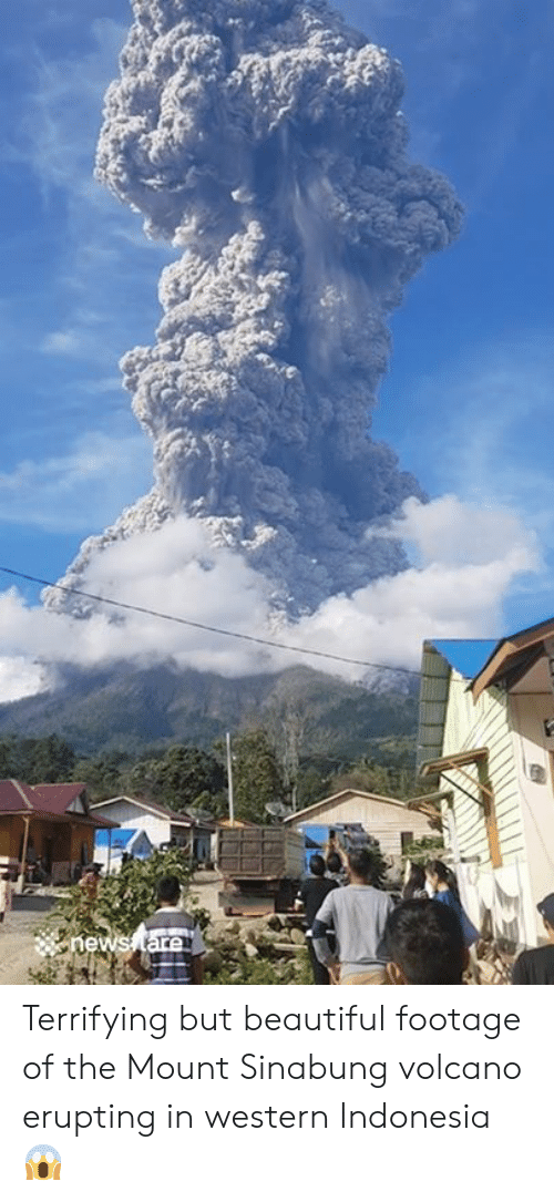 Volcano: hews tare Terrifying but beautiful footage of the Mount Sinabung volcano erupting in western Indonesia 😱