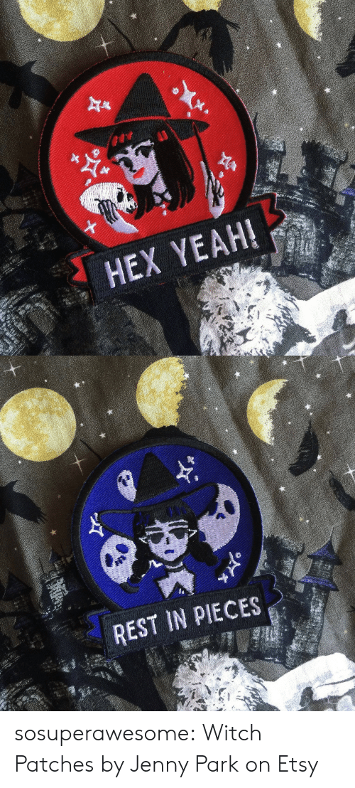 Etsy: HEX YEAH!   REST IN PIECES sosuperawesome: Witch Patches by Jenny Park on Etsy