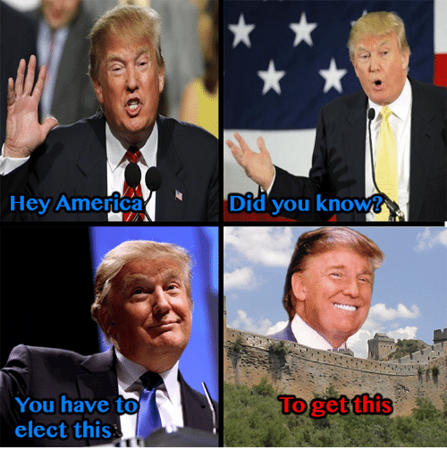 America and Dank Memes: Hey America  Did you knoww  You have to  Uoget this  elect this