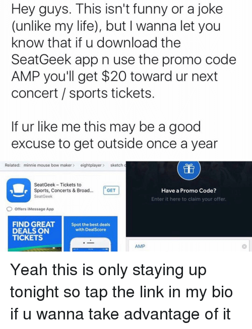Seatgeek coupon code