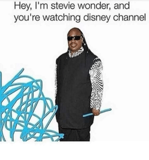Stevie Wonder: Hey, I'm stevie wonder, and  you're watching disney channel