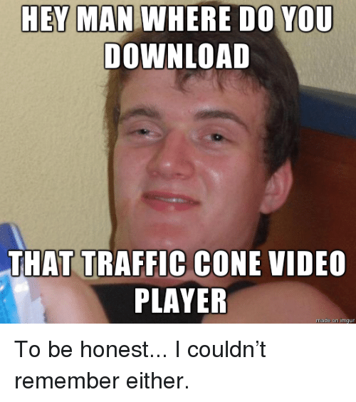 traffic cone video player