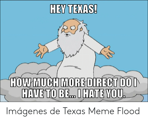 Texas Meme: HEY TEXAS!  HOW MUCH MORE DIRECT DOI  HAVE TO BE...I HATE YOU