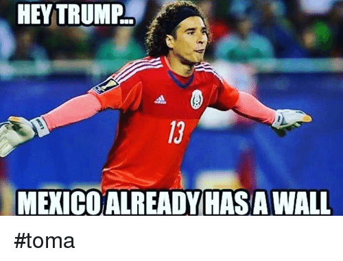 Memes, Mexico, and Trump: HEY TRUMP.  MEXICO ALREADY HASA WALL #toma