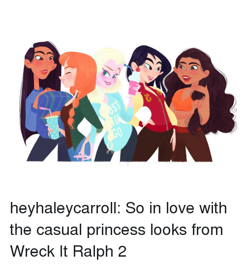 Wreck It: heyhaleycarroll:  So in love with the casual princess looks from Wreck It Ralph 2