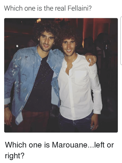 Soccer, Sports, and The Real: hich one is the real Fellaini? Which one is Marouane...left or right?