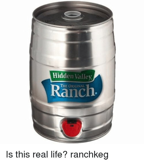 Life, Memes, and 🤖: Hidden Valley  THE ORIGINAL  Ranch Is this real life? ranchkeg