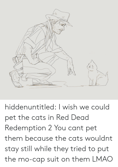 Red Dead Redemption: hiddenuntitled: I wish we could pet the cats in Red Dead Redemption 2  You cant pet them because the cats wouldnt stay still while they tried to put the mo-cap suit on them LMAO