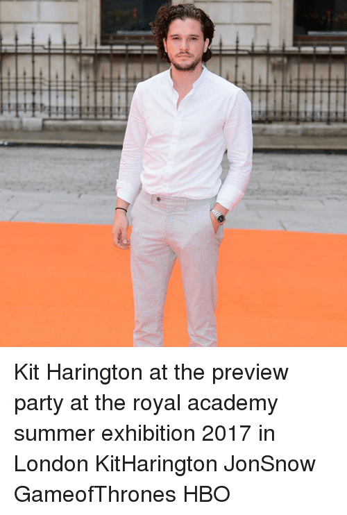 Kit Harington: HIIHHHH Kit Harington at the preview party at the royal academy summer exhibition 2017 in London KitHarington JonSnow GameofThrones HBO