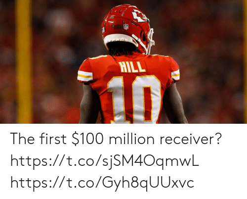 receiver: HILL  10 The first $100 million receiver? https://t.co/sjSM4OqmwL https://t.co/Gyh8qUUxvc