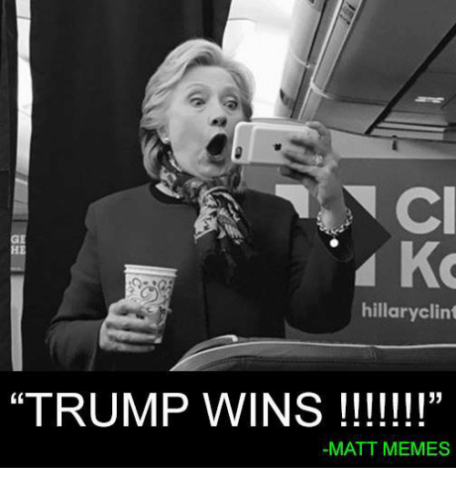 "Trump, Conservative, and Matte: hillary clint  ""TRUMP WINS  MATT MEMES"