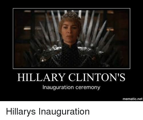 Hillary Clinton, Politics, and Net: HILLARY CLINTON'S  Inauguration ceremony  mematic net Hillarys Inauguration