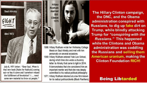 hillary college thesis on rules for radicals Hillary clinton: the 'hillary letters' with first lady was writing her wellesley college thesis about his [rules for radicals' coming out or has it.