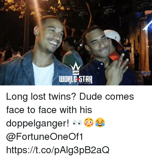 Doppelganger, Dude, and Lost: HIP HOP. CO M Long lost twins? Dude comes face to face with his doppelganger! 👀😳😂 @FortuneOneOf1 https://t.co/pAlg3pB2aQ