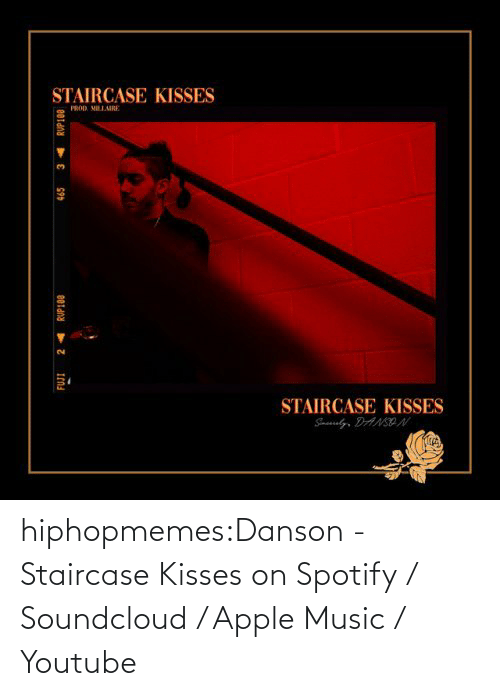 Apple Music: hiphopmemes:Danson - Staircase Kisses on Spotify / Soundcloud / Apple Music / Youtube