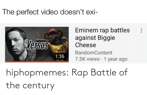 Rap battle: hiphopmemes:  Rap Battle of the century