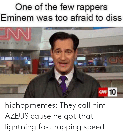 rapping: hiphopmemes:  They call him AZEUS cause he got that lightning fast rapping speed