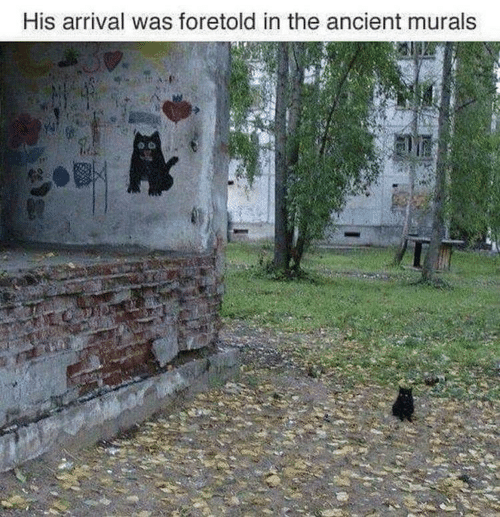 Arrival: His arrival was foretold in the ancient murals