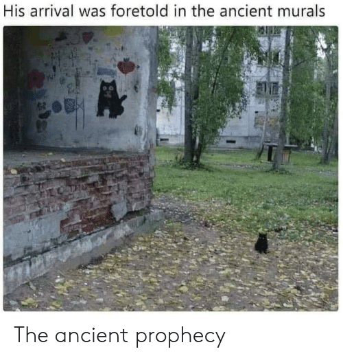 Arrival: His arrival was foretold in the ancient murals The ancient prophecy