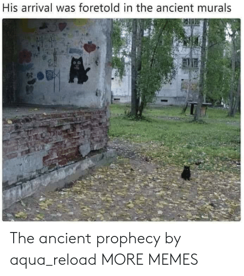 Arrival: His arrival was foretold in the ancient murals The ancient prophecy by aqua_reload MORE MEMES
