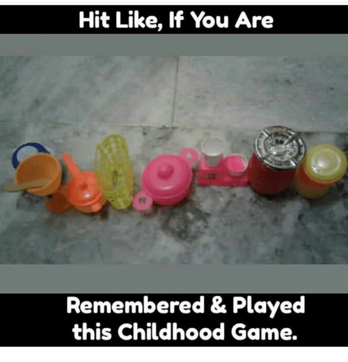 Memes, Game, and 🤖: Hit Like, If You Are  Remembered & Played  this Childhood Game.