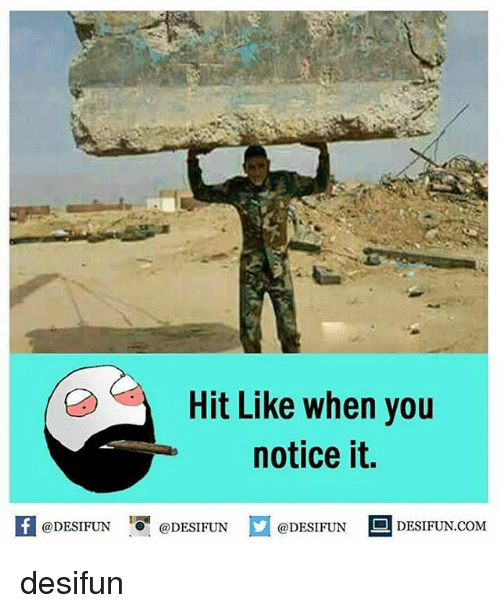"""Memes, 🤖, and Com: Hit Like when you  notice it.  feDESIFUN@DESIFUNDESIFUN DESIFUN.coM  @DESIFUN 0"""" @DESIFUN  @DESIFUN 